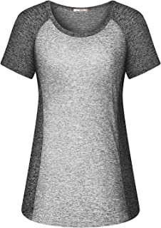 Women Yoga Tops Cool Casual Fitness Workout T Shirt