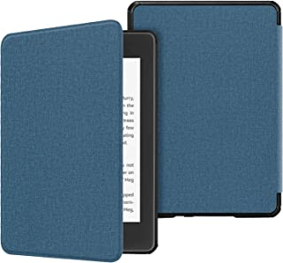 Fintie Slimshell Case for All-New Kindle Paperwhite (10th Generation, 2018 Release) - Premium Lightweight PU Leather Cover with Auto Sleep/Wake for Amazon Kindle Paperwhite E-Reader, Twilight Blue