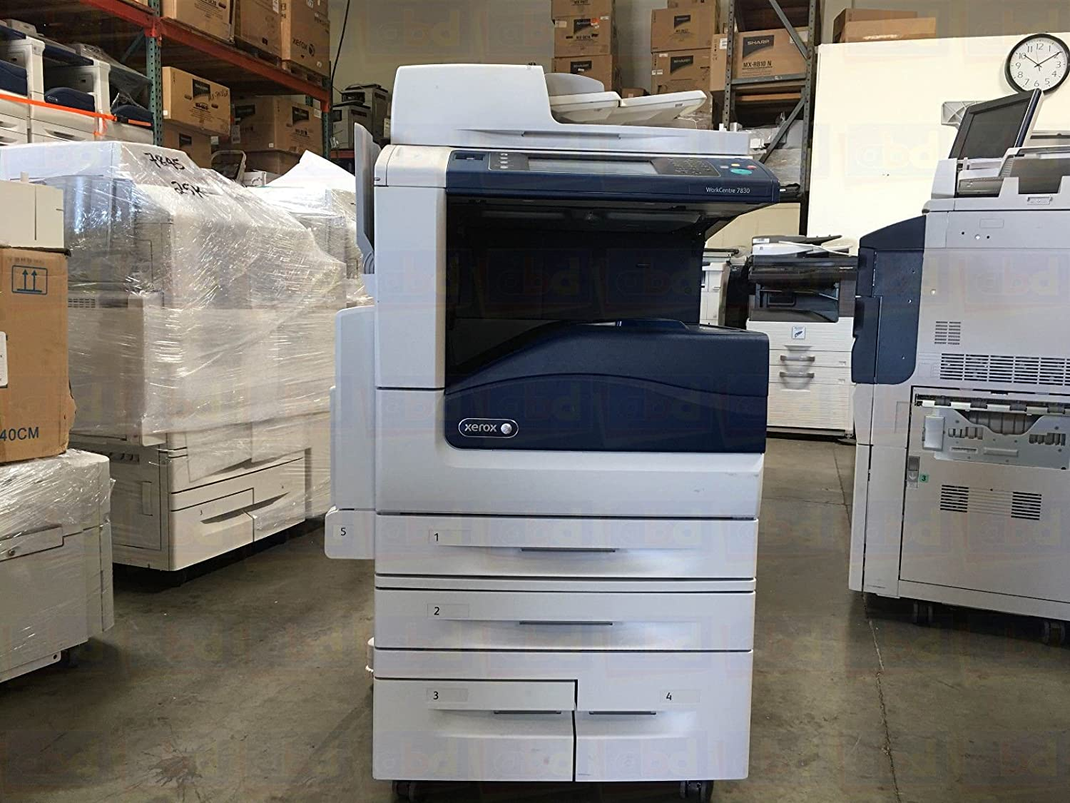 Xerox WorkCentre 7855 A3 Color Laser Multifunction Copier - SRA3/A3/A4/A5, 55ppm, Copy, Print, Scan, Internet Fax, Email, Auto Duplex, Network, USB, 2 Trays, High Capacity Tandem Tray