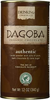 Dagoba Organic Authentic Drinking Chocolate (Fair Trade Certified), 12-Ounce Canisters (Pack of 3)