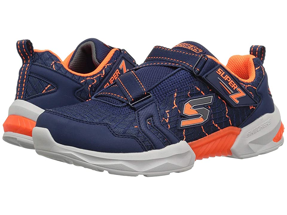 SKECHERS KIDS Techtronix 97842L (Little Kid/Big Kid) (Navy/Orange) Boy