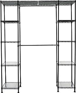 comprar comparacion AmazonBasics - Sistema organizador de armario extensible, Negro
