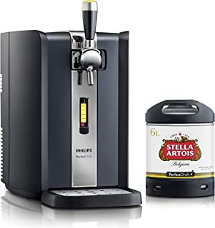 Dispensador de cerveza PerfectDraft de 6 litros. Incluye 1 un barril de 6 litros - Cerveza de trigo. Incluye un depósito de 5 euros. (Stella Artois)