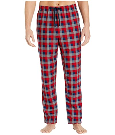 Nautica Plaid Cozy Fleece Pajama Pant (Red) Men