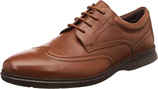 Ruosh Men's California Tan/Light Brown Leather Formal Shoes-9 UK/India (43 EU) (1121247470_9)