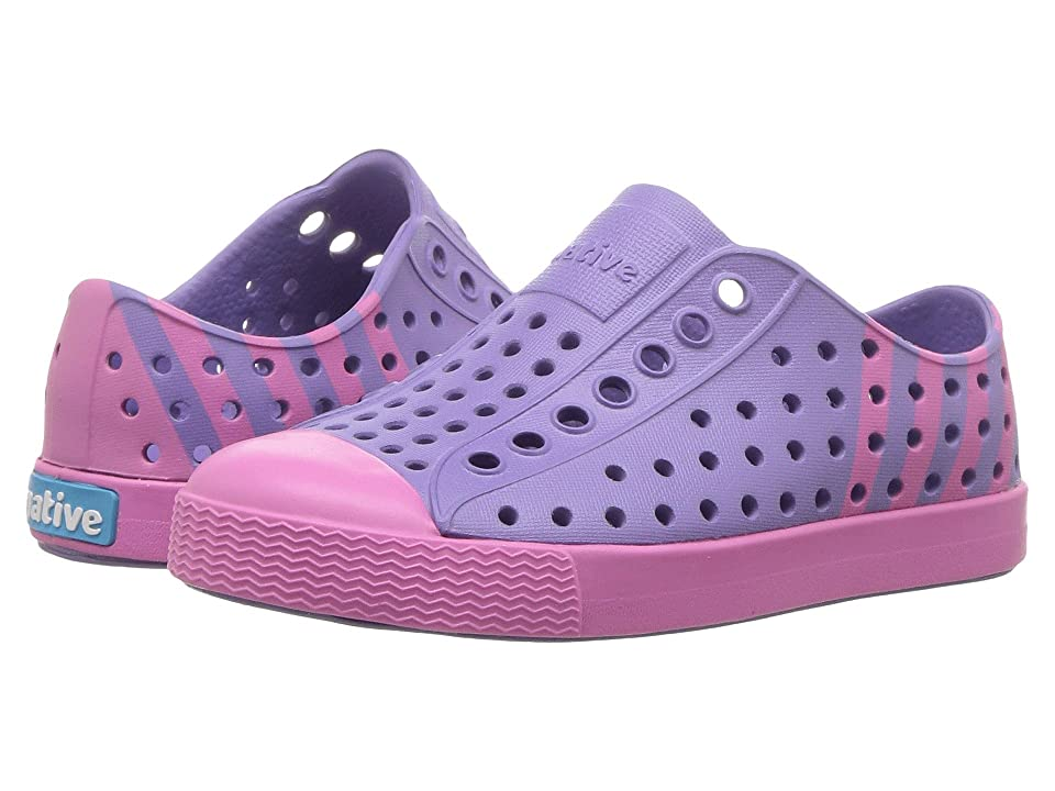 Native Kids Shoes Jefferson Block (Toddler/Little Kid) (Thistle Purple/Woodward Pink/Woodward Stripe) Girls Shoes