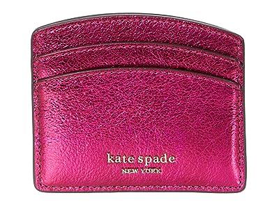 Kate Spade New York Spencer Metallic Card Holder (Metallic Rhododendron) Handbags