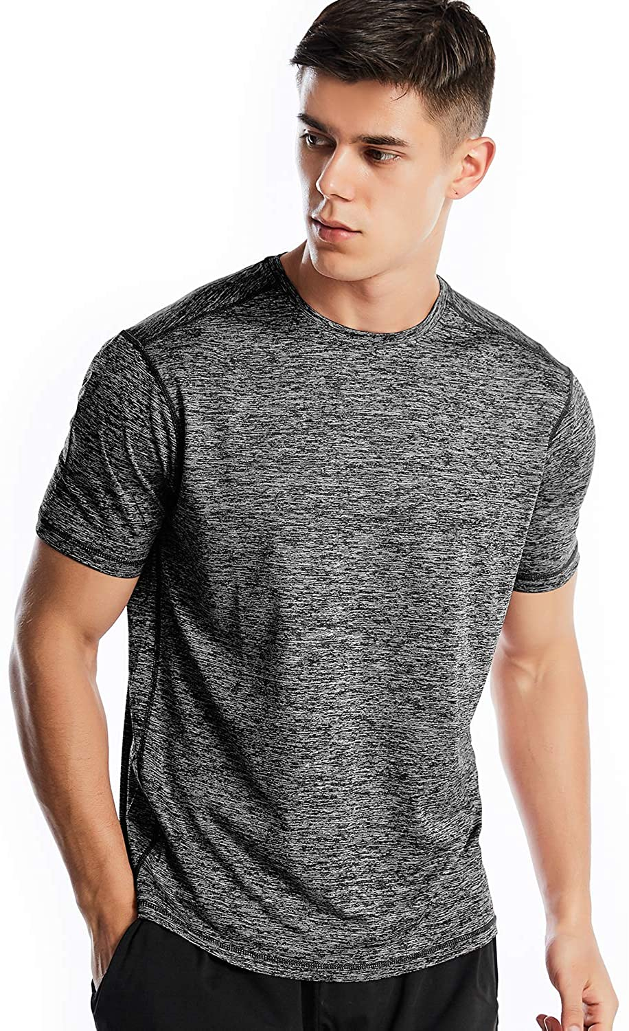 Athletic New life Shirts Popular overseas for Men Short Shirt Workout Sleeve