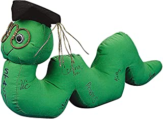 Green Autograph Bookworm for Graduation - Stuffed Soft Plush
