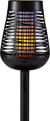 PIC Solar Insect Killer Torch (DFST), Bug Zapper and Flame Accent Light, Kills Bugs on Contact - Twin Pack