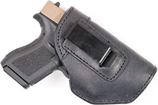 ComfortTac The Protector Leather IWB Holster for Midcompact Pistols Including S&W Bodyguard 380 with Or Without Integrated Laser | Glock 42 | Ruger LCP2 | Sig Sauer P238 & P290 and Most 380's