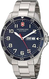 ساعت کوارتز آنالوگ مردانه Victorinox Fieldforce با بند استیل ضد زنگ ، متالیک ، 18 (مدل: 241851)