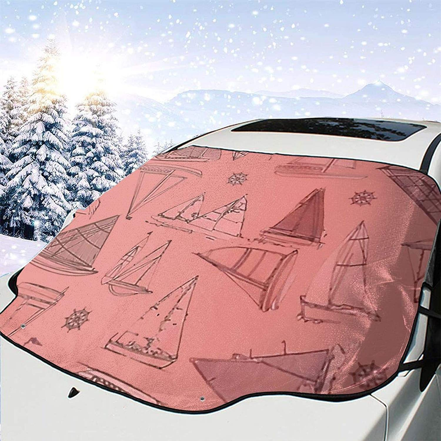 Minneapolis Mall Popular Car Front Window Windshields Snow Cover Drawn Pink Frost G Boats