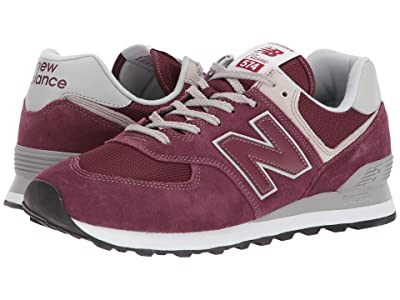 New Balance Classics ML574v2 (Burgundy/Burgundy) Men