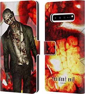 Official Resident Evil Zombie Remake Creatures Leather Book Wallet Case Cover Compatible for Samsung Galaxy S10 5G