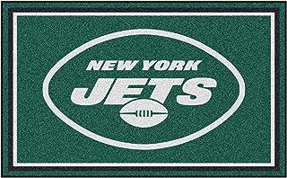 "FANMATS 6596 NFL New York Jets Nylon Face 4X6 Plush Rug Team Color, 46""x72"""