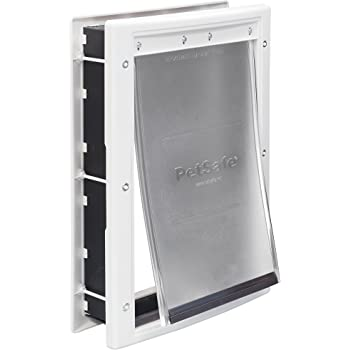 PetSafe Plastic Pet Door with Soft Tinted Flap - Small, Medium, Large and X-Large Door for Dogs and Cats
