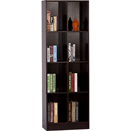 DeckUp Meritus-S 4-Shelf Engineered Wood Book Shelf and Display Unit (Dark Wenge, Matte Finish)