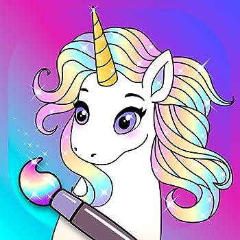 Animated Glitter Coloring Book - My Little Unicorn