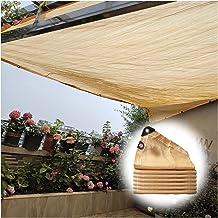 PENGFEI schaduwdoek Sunblock schaduwnet, balkon privacy hek bescherming netten met touw, ventilatie zonwering UV-beschermi...