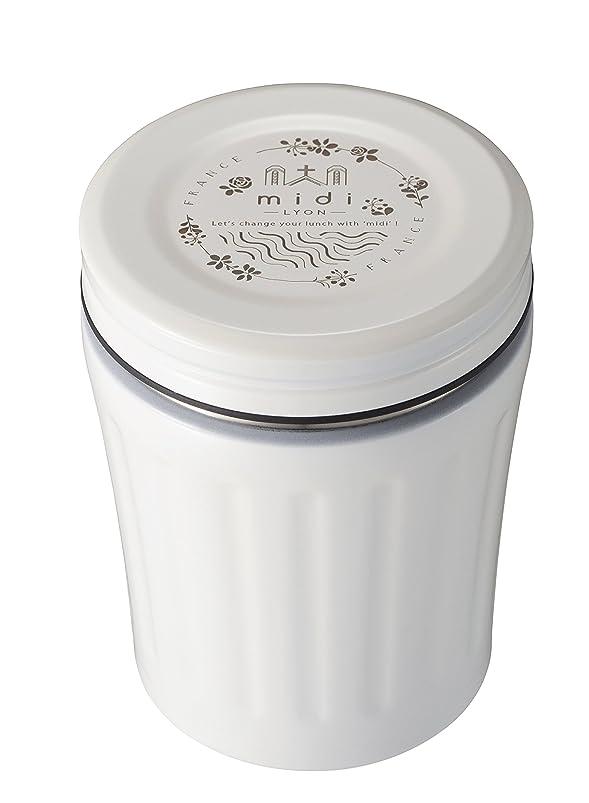 消費する舌代わりにシービージャパン スープジャー ホワイト 350ml 高耐久 フッ素加工 フードジャー midi