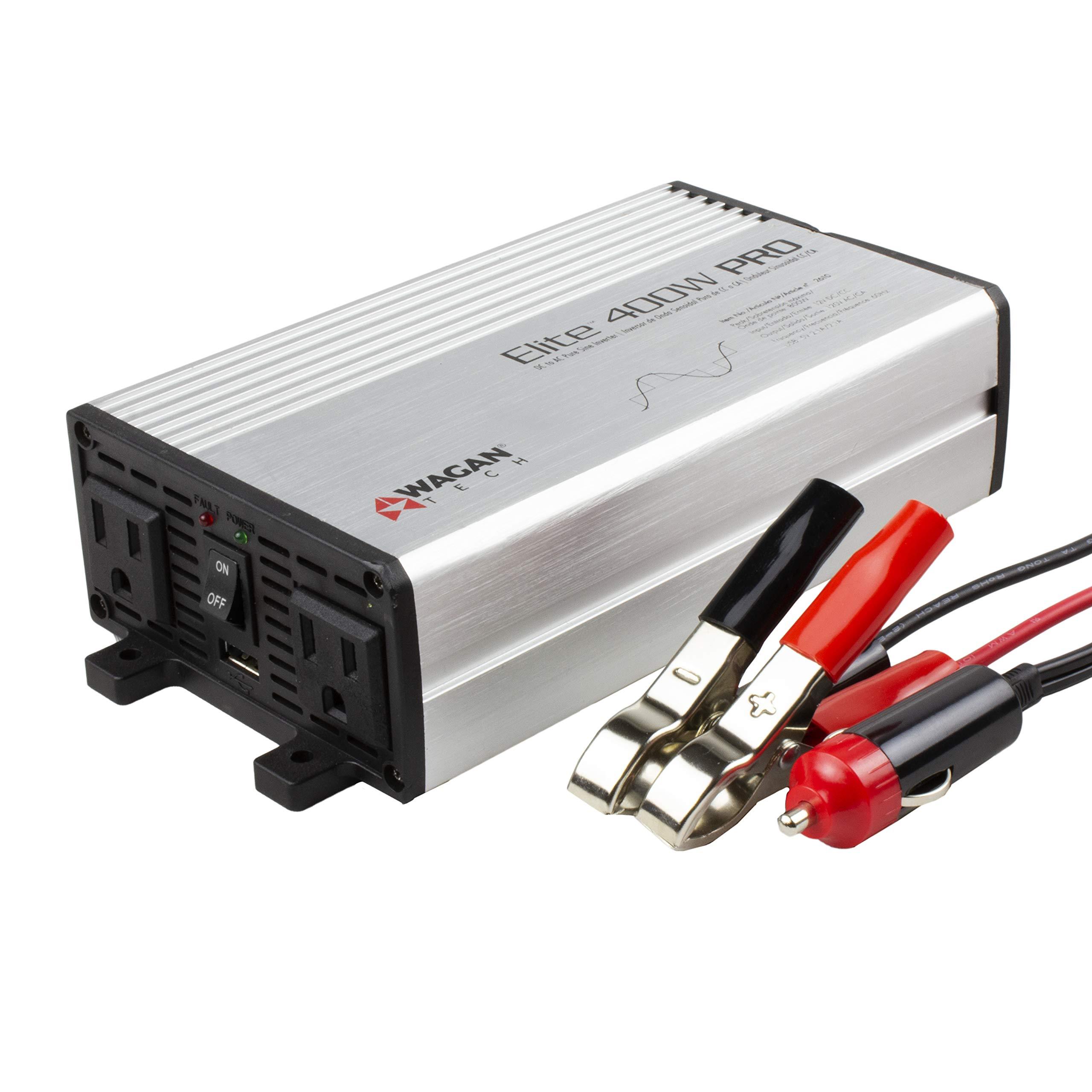 Wagan EL2610 Gray 400W Pro Pure Sine Wave Power Inverter