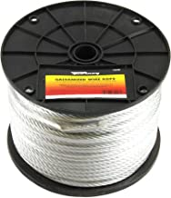 Forney 70448 Wire Rope, Galvanized Aircraft Cable, 250-Feet-by-1/4-Inch