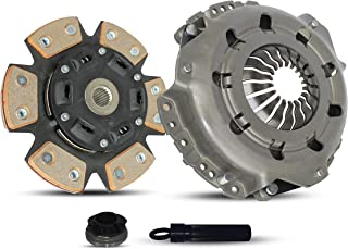 Clutch Kit Works With Saturn SC1 SC2 SL SL1 SL2 SW1 SW2 Base Coupe Sedan Wagon 1991-1999 1.9L L4 GAS SOHC Naturally Aspirated (1.9L All Models S-Series; 6-Puck Clutch Disc Stage 2)