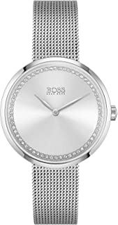 Hugo Boss Black Women's Silver White Dial Stainless Steel Watch - 1502546