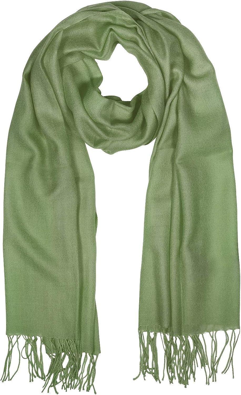 Mila Schon Women's B4548N0101 Green Wool Scarf