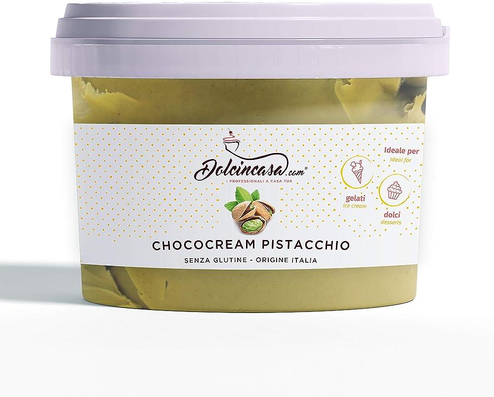 Crema al pistacchio spalmabile o per farcire ,500gr, senza glutine, alta qualità pasticcera