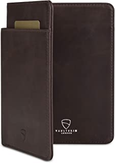 Vaultskin Kensington Leather Passport Wallet with RFID Protection (Brown)