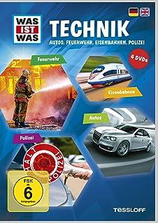 Was ist was: Technik - Autos, Feuerwehr, Eisenbahnen, Polizei [Alemania] [DVD]
