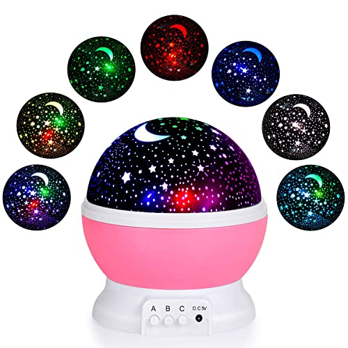 Great EOMOO Baby Night Lights For Kids,Starry Night Light Rotating Moon Stars  Projector, 7