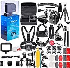 $259 » GoPro - HERO7 Silver 4K Waterproof Action Camera - with 50 Piece Accessory Kit - Touch Screen 4K HD Video - 10MP Photos - Live Streaming Stabilization - Silver - Loaded Bundle