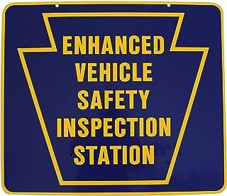 Pennsylvania DOT Enhanced Vehicle Safety Inspection Sign