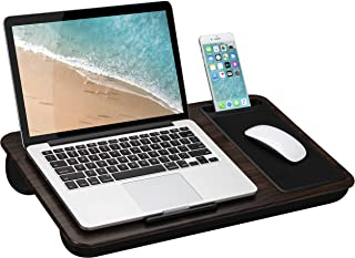 LapGear Home Office Lap Desk with Device Ledge, Mouse Pad, and Phone Holder - Espresso Woodgrain...