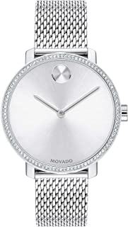 Women's Bold Shimmer Swiss Quartz Watch with Stainless Steel Strap, Silver, 15 (Model: 3600655)
