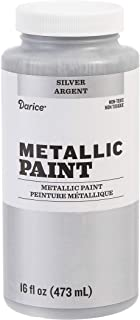 Darice Matte Silver, 16 ounces Acrylic Paint