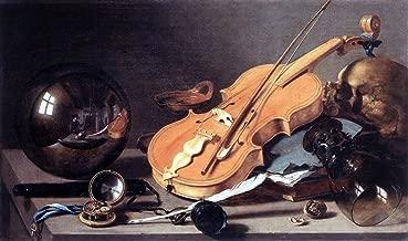 pieter claesz vanitas with violin and glass ball