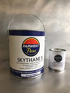 Farwest Paint SKYTHANE II 2-Part Acrylic Urethane Gloss Finish Industrial Paint, Black, 1 Gallon