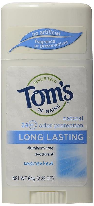 講師大きなスケールで見ると図書館Tom's of Maine Long Lasting Deodorant Stick Unscented - USA (並行輸入品)