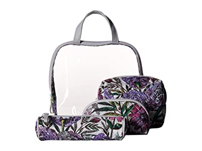 Vera Bradley Iconic Four-Piece Cosmetic Set (Lavender Meadow) Cosmetic Case