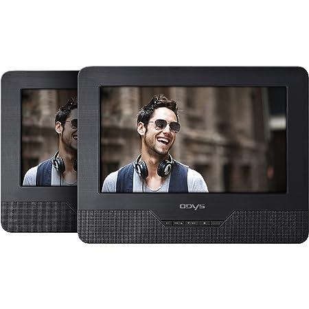 Odys Seal 7 Tragbarer Dvd Player Mit Zusätzlichem Bildschirm 17 8 Cm 7 Zoll Tft Display Usb Sd Card Schwarz Audio Hifi