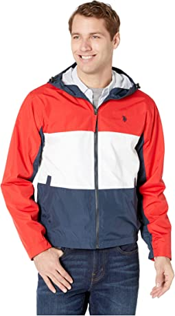Tricolor Hooded Windbreaker