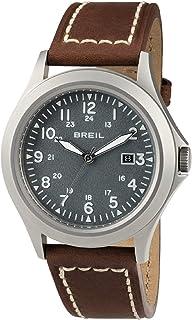 Reloj BREIL Hombre Army Esfera Gris e Correa in Piel de Becerro marrón, Movimiento Solo Tiempo - 3H Cuarzo