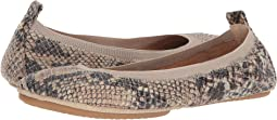 Beige Serpent Print Leather