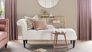 Jennifer Taylor Home Harrison Chaise Lounge, White