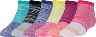 Girls' Micro Soft Mix No Show Socks, 6 Pairs