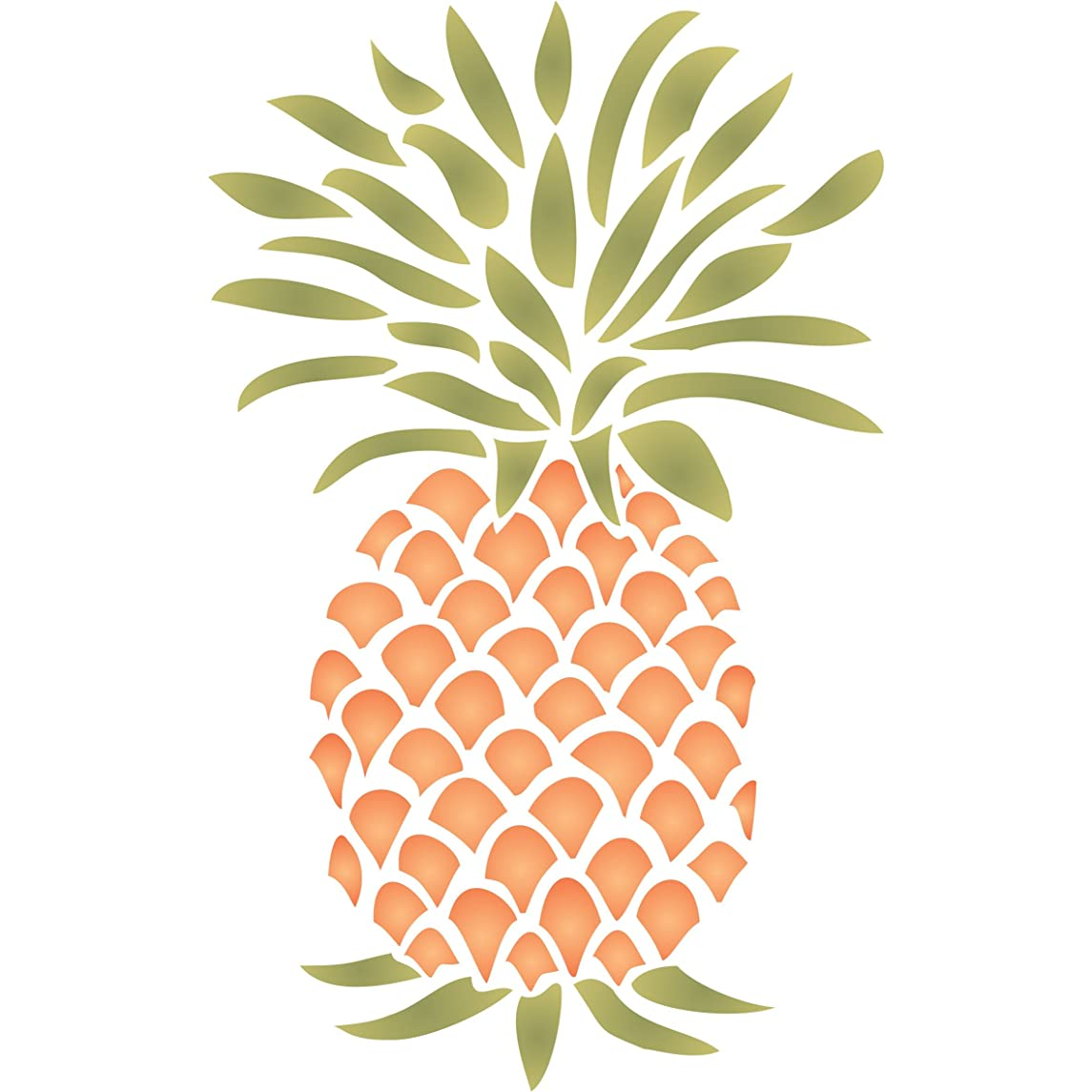 "Pineapple Stencil - (size 6.5""w x 10.5""h) Reusable Wall Stencils for Painting - Best Quality Fruit Kitchen Stencil Ideas - Use on Walls, Floors, Fabrics, Glass, Wood and More…"